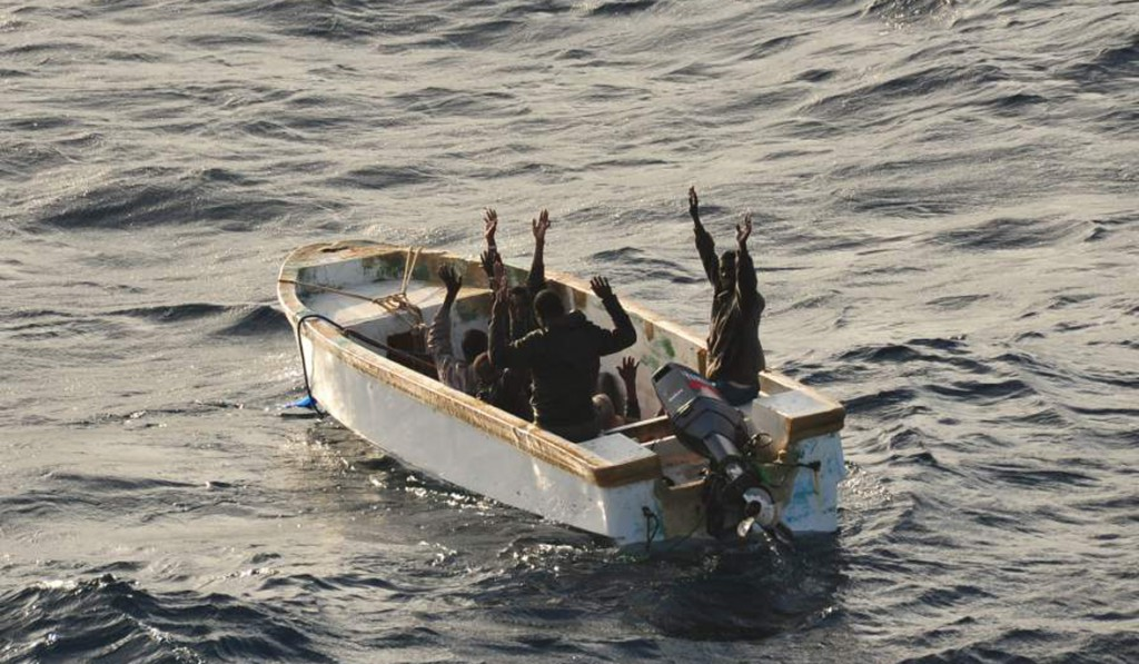 Suspected pirates Surrender