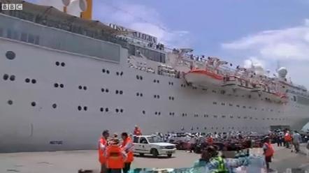 Costa Allegra docks